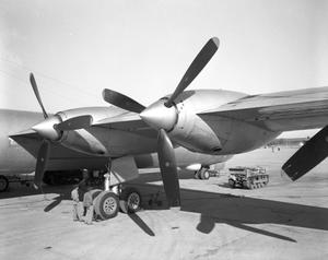 Primary view of object titled 'B-36 Propeller, front view'.