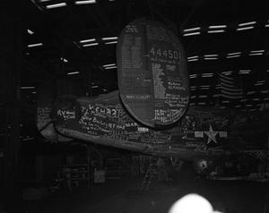 Primary view of object titled '[Tail of the Last B-24]'.