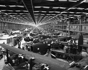 Primary view of object titled '[Aircraft Assembly Line]'.