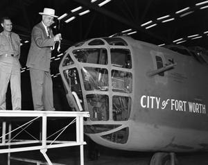 Primary view of object titled '[Amon Carter Christening City of Fort Worth Aircraft]'.
