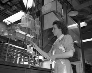 Primary view of object titled '[Clara Fay Gilley in Chemical Lab]'.