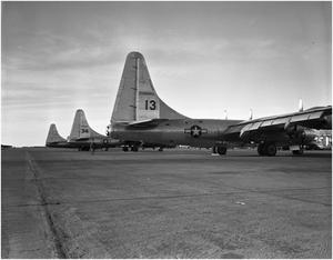Primary view of object titled 'B-32 Tail Lineup'.