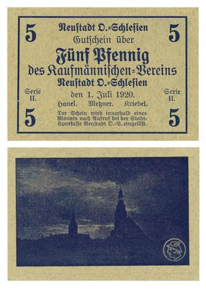 Primary view of object titled '[Voucher from Germany in the denomination of 5 pfennig]'.