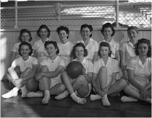 Primary view of object titled 'Girls Basketball Team, 1942'.