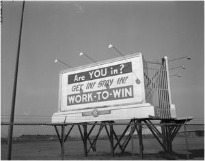 Primary view of object titled 'Work-to-Win Billboard'.