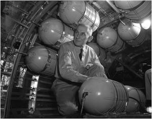 Primary view of object titled 'Tom L. Hiner Working at Convair'.