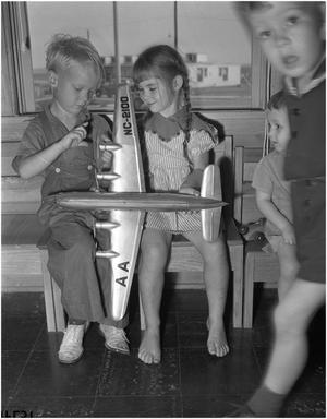Primary view of object titled 'Children Mickey McMillan and Karen Miglautsch'.