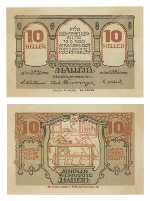 Primary view of [Voucher from Germany in the denomination of 10 heller]