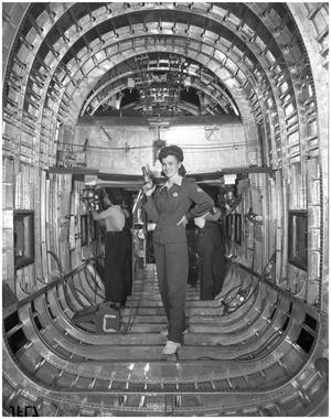 Primary view of object titled 'Plane Talk Series of Cassie Giles, Swing Shift Rivet Girl'.