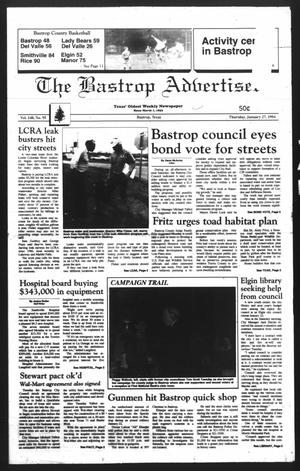 Primary view of object titled 'The Bastrop Advertiser (Bastrop, Tex.), Vol. 140, No. 95, Ed. 1 Thursday, January 27, 1994'.