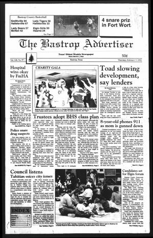Primary view of object titled 'The Bastrop Advertiser (Bastrop, Tex.), Vol. 140, No. 97, Ed. 1 Thursday, February 3, 1994'.