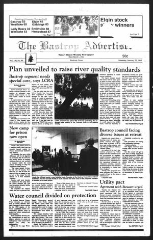 Primary view of object titled 'The Bastrop Advertiser (Bastrop, Tex.), Vol. 140, No. 94, Ed. 1 Saturday, January 22, 1994'.