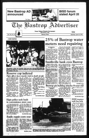 Primary view of object titled 'The Bastrop Advertiser (Bastrop, Tex.), Vol. 141, No. 16, Ed. 1 Saturday, April 23, 1994'.