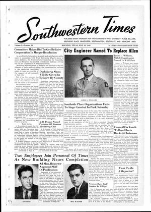 Primary view of object titled 'Southwestern Times (Houston, Tex.), Vol. 2, No. 36, Ed. 1 Thursday, May 30, 1946'.