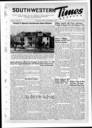 Primary view of object titled 'Southwestern Times (Houston, Tex.), Vol. 3, No. 11, Ed. 1 Thursday, December 5, 1946'.