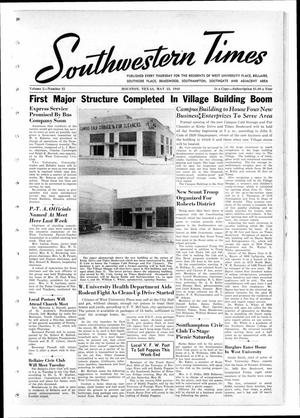 Primary view of object titled 'Southwestern Times (Houston, Tex.), Vol. 2, No. 35, Ed. 1 Thursday, May 23, 1946'.