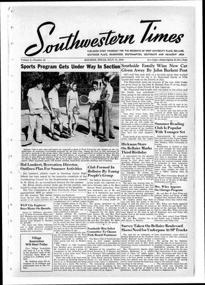 Primary view of object titled 'Southwestern Times (Houston, Tex.), Vol. 2, No. 42, Ed. 1 Thursday, July 11, 1946'.