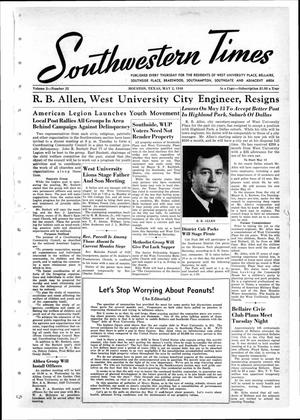 Primary view of object titled 'Southwestern Times (Houston, Tex.), Vol. 2, No. 32, Ed. 1 Saturday, May 2, 1946'.