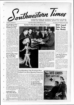 Primary view of object titled 'Southwestern Times (Houston, Tex.), Vol. 2, No. 23, Ed. 1 Thursday, February 28, 1946'.