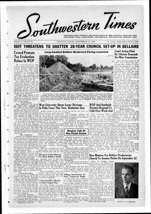 Primary view of object titled 'Southwestern Times (Houston, Tex.), Vol. 2, No. 51, Ed. 1 Thursday, September 12, 1946'.