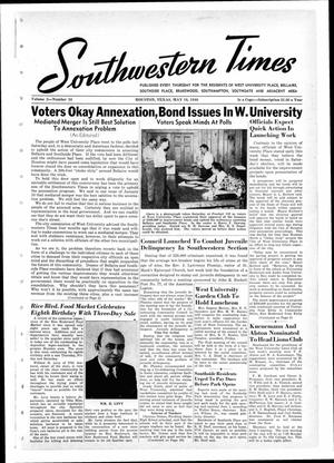 Primary view of object titled 'Southwestern Times (Houston, Tex.), Vol. 2, No. 34, Ed. 1 Thursday, May 16, 1946'.