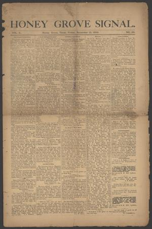 Honey Grove Signal. (Honey Grove, Tex.), Vol. 3, No. 38, Ed. 1 Friday, November 10, 1893