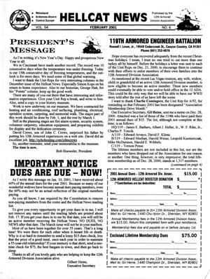Primary view of object titled 'Hellcat News, (Sheridan, Wyo.), Vol. 54, No. 6, Ed. 1, February 2001'.
