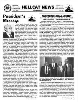 Primary view of object titled 'Hellcat News, (Fullerton, Calif.), Vol. 57, No. 3, Ed. 1, November 2003'.