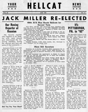 Primary view of object titled 'Hellcat News, (Detroit, Mich.), Vol. 15, No. 12, Ed. 1, August 1961'.