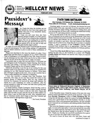 Primary view of object titled 'Hellcat News, (Fullerton, Calif.), Vol. 57, No. 6, Ed. 1, February 2004'.