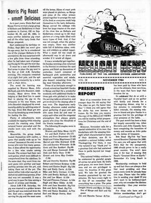 Primary view of object titled 'Hellcat News, (Godfrey, Ill.), Vol. 38, No. 3, Ed. 1, November 1984'.