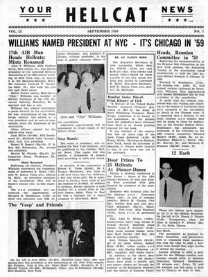 Primary view of object titled 'Hellcat News, (Detroit, Mich.), Vol. 13, No. 1, Ed. 1, September 1958'.