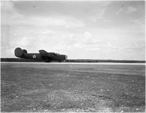 Primary view of object titled '[First Flight of B-24]'.