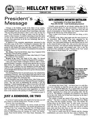 Primary view of object titled 'Hellcat News, (Sheridan, Wyo.), Vol. 55, No. 6, Ed. 1, February 2002'.