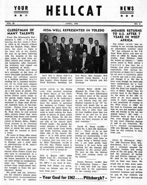 Primary view of object titled 'Hellcat News, (Detroit, Mich.), Vol. 16, No. 8, Ed. 1, April 1962'.
