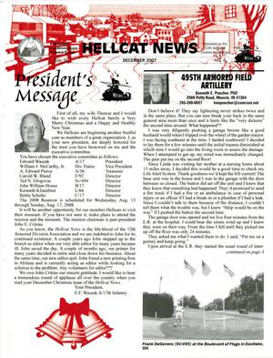 Primary view of object titled 'Hellcat News, (Abilene, Tex.), Vol. 60, No. 4, Ed. 1, December 2007'.