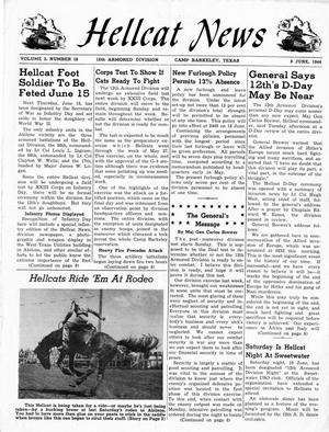 Primary view of object titled 'Hellcat News, Vol. 2, No. 18, Ed. 1, June 8, 1944'.