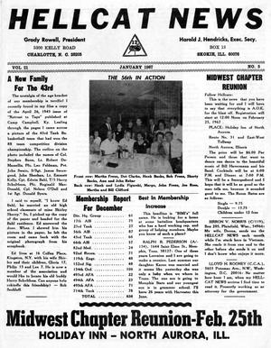 Primary view of object titled 'Hellcat News, (Skokie, Ill.), Vol. 21, No. 5, Ed. 1, January 1967'.