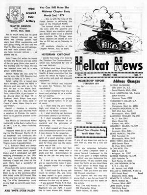 Primary view of object titled 'Hellcat News, (Maple Park, Ill.), Vol. 27, No. 7, Ed. 1, March 1974'.