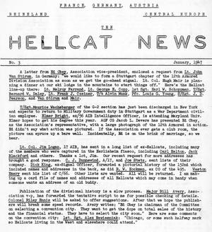 Primary view of Hellcat News, (Arlington, Va.), Vol., No. 3, Ed. 1, January 1947
