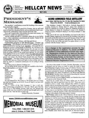 Primary view of object titled 'Hellcat News, (Sheridan, Wyo.), Vol. 54, No. 9, Ed. 1, May 2001'.