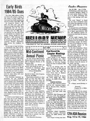 Primary view of object titled 'Hellcat News, (Godfrey, Ill.), Vol. 37, No. 8, Ed. 1, April 1984'.