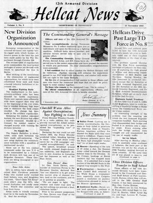 Primary view of object titled 'Hellcat News, (Tennessee.), Vol. 1 , No. 9, Ed. 1, November 12, 1943'.