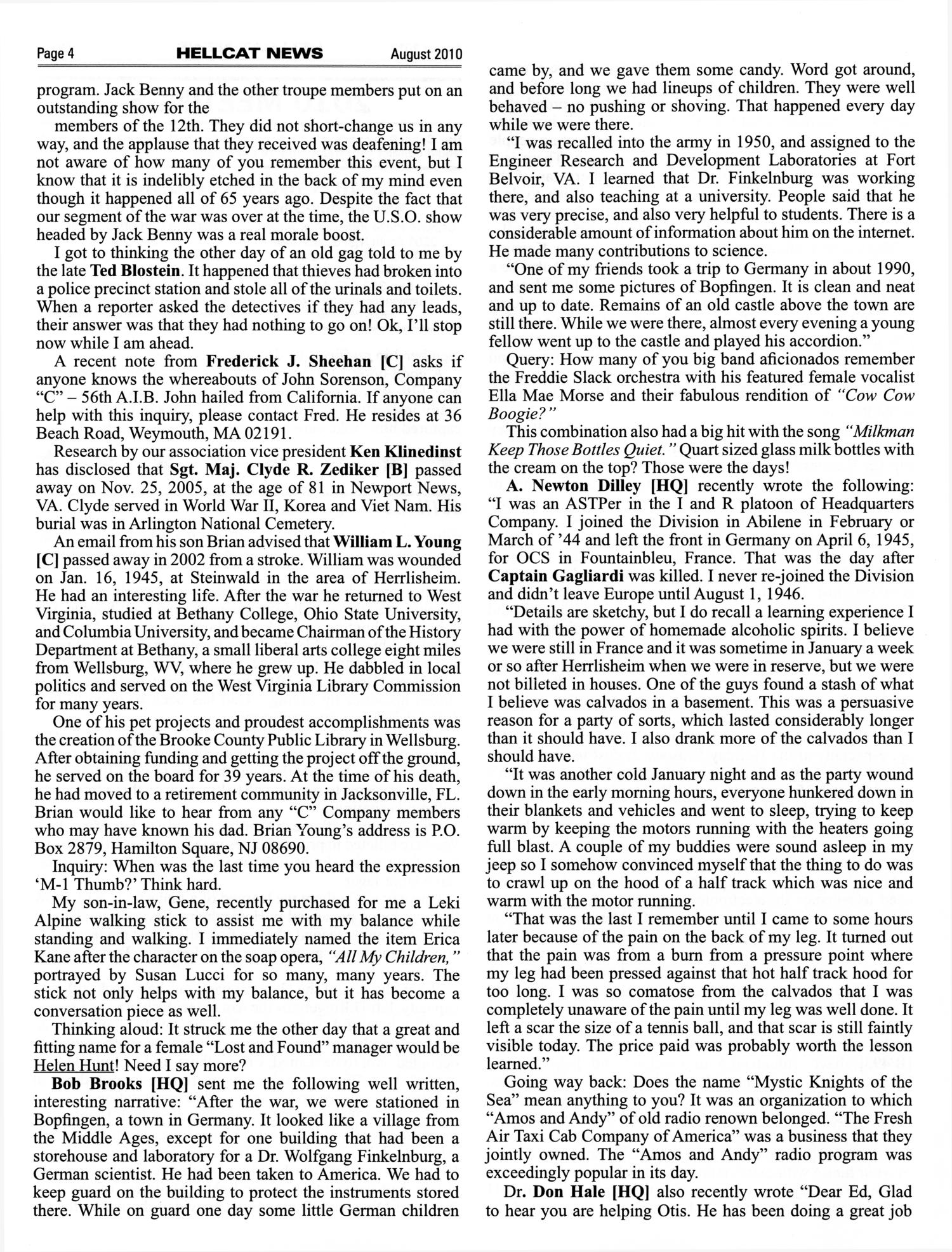 Hellcat News, (Abilene, Tex.), Vol. 63, No. 12, Ed. 1, August 2010                                                                                                      [Sequence #]: 4 of 20