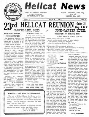 Primary view of object titled 'Hellcat News, (Skokie, Ill.), Vol. 23, No. 11, Ed. 1, July 1969'.