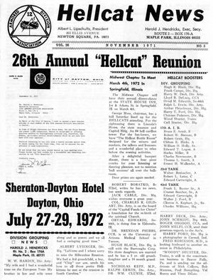 Primary view of object titled 'Hellcat News, (Maple Park, Ill.), Vol. 26, No. 3, Ed. 1, November 1971'.