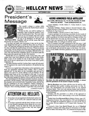 Primary view of object titled 'Hellcat News, (Sheridan, Wyo.), Vol. 56, No. 1, Ed. 1, September 2002'.