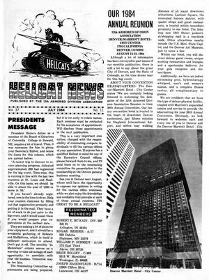 Primary view of object titled 'Hellcat News, (Godfrey, Ill.), Vol. 37, No. 11, Ed. 1, July 1984'.