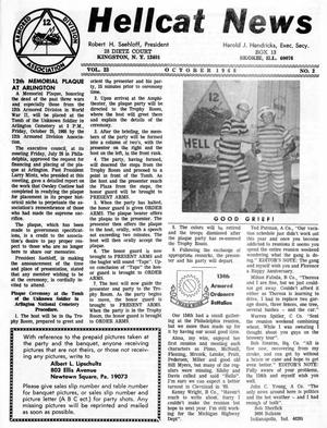 Primary view of object titled 'Hellcat News, (Skokie, Ill.), Vol. 23, No. 2, Ed. 1, October 1968'.