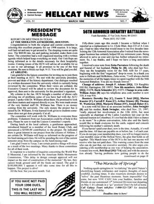 Primary view of object titled 'Hellcat News, (Kingman, Ariz.), Vol. 51, No. 7, Ed. 1, March 1998'.